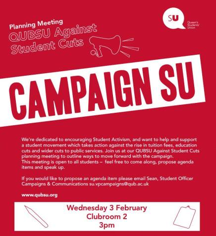 Campaign SU Wednesday 3-02 meeting poster